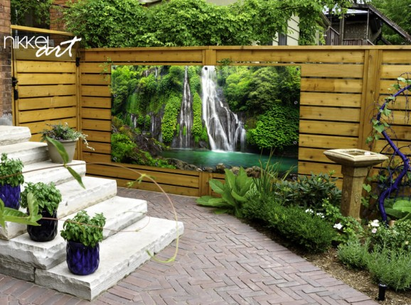 Poster de jardin de cascade