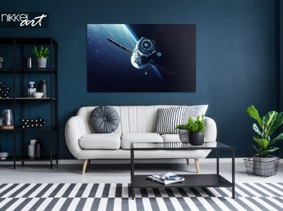 Salon avec Photo Vaisseau Spatial sur Aluminium