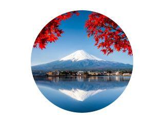 Berg Fuji in Japan im Herbst