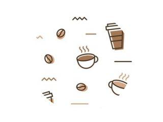 coffee bean mug cup memphis seamless pattern white background wallpaper download