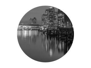 Vancouver Skyline at Night B & W