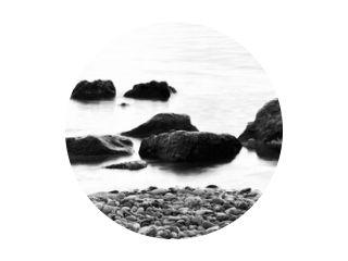 Long exposure water closeup in sea