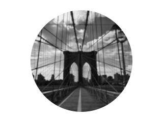 Pont de Brooklyn noir et blanc - New-York