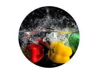 Paprika splash in water