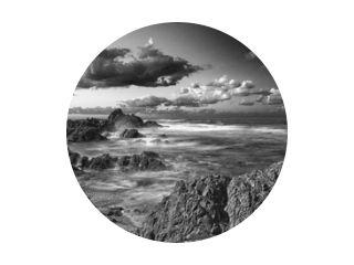 Long exposure rocky coastline - B&W.